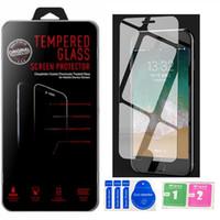 2.5D с розничной упаковкой Высокопрозрачный стеклянный экран протектор для iPhone 4 5 6 7 8 x xr 11 12 Pro Max