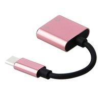 شاحن سلك الشحن، محول شحن وسماعة 2 في 1 نوع C-3.5mm إلى رئيس يزرية USB كيبل C