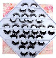18 3D falso vison Pestanas pares Natural Falso cílios postiços longos cílios maquiagem pestana Extensão Cílios para a beleza