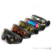 4 verres Couleur Noir Frame neige Lunettes de vent preuve UV400 rétro Lunettes de ski kayak moto motoneige Ski Sport Protection Lunettes de sécurité