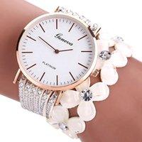 Moda Geneva Kwiaty Zegarki Kobiety Sukienka Elegancka Bransoletka Kwarcowa Watch Crystal Diamond Wrist Watch Gift Gift