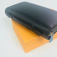 ZIPPY XL محفظة فرنسا فاخر مصمم الرجال الذكي جواز السفر مفتاح حامل المحفظة بطاقة الائتمان النقدية Damier قماش التايغا جلدية M6607