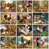 Tavuk Tam Kare Elmas Nakış Hayvanlar Çapraz Dikiş Seti Mozaik Rhinestone Sanat Ev Dekorasyonu Boyama Evershine Elmas