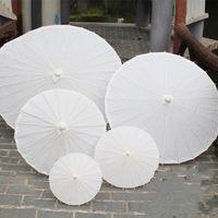 2017 Brauthochzeitssonnenschirme Weißbuch Regenschirme chinesischen Minihandwerk Regenschirm Durchmesser 20/30/40 / 60cm Hochzeit Regenschirme für den Großhandel