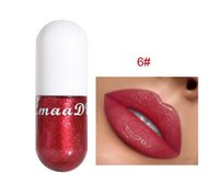 2020 HOT marca famosa CmaaDu labbro sexy del rossetto liquido Mermaid Lip Gloss Shiny diamante della perla del rossetto idratante cristallo 3D Jelly Lip Makeu