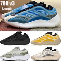جديد 700 v3 azareth رجالي الاحذية azael الفح og عاكس الرجال النساء الرياضة أحذية رياضية المدربين مع صندوق الولايات المتحدة 5-11