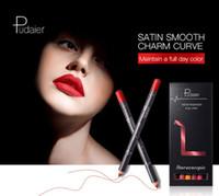 Pudaier de labios mate de línea fija de 12 colores a prueba de agua Lápiz Labial Larga duración Kit Contorno de labios herramienta desnuda contorno de belleza