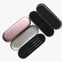 الطبقات YioWio نيس عالية الجودة صفيح مزدوجة الإسفنج الرموش لاش الملقط كليب حماية التخزين حالة صندوق 4 قطع الملقط القدرات