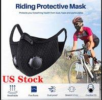 US LAGER! Radfahren Gesichtsmaske mit Aktivkohlefilter PM2.5 Anti-Pollution Sport Running Training Schutz Staub Radfahren Maske Caps FY9060