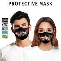 face masks 3D tooth sports outdoor riding mask Washable Mask...