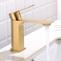 Brushed Gold Sink Faucet bathroom basin TAP for kitchen and ...