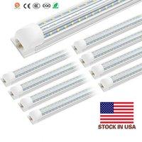 T8 8ft 72W 120 Watt Integrated Tube Light V Shape LED Tube T8 4ft 5ft 6ft 8 ft Cooler Door Freezer LED Lighting