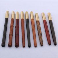 أقلام حبر جاف الجودة الفاخرة 017 النحاس الخشب رواد القلم توقيع 0.7 ملليمتر الذهب الغزل الكرة نقطة الحبر القرطاسية اللوازم المكتبية
