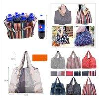 Katlanabilir Alışveriş Çantaları Naylon su geçirmez Depolama Çanta Çevre Dostu Katlanır Çanta Bakkal Çanta Moda Karikatür Alışveriş Omuz Totes E81802