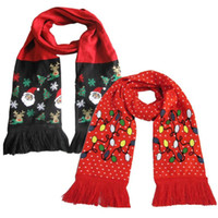 NEW Luminous Scarf Warm Knit Tassel Scarf for Christmas Deco...
