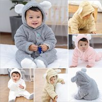 Newborn Baby Footed Rompers for Infant Girls and Boys Solid ...
