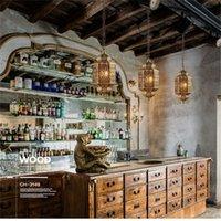 천 스토어 바 레스토랑에 대한 Artpad 주철 펜던트 램프 큰 크기 동남 아시아 이국적인 중공 체인 행잉 펜던트 조명