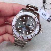 U1 공장 새로운 도착 시계 yatch 남자 손목 고품질 자동 40mm 블루 그레이 화이트 다이얼 126622 원래 걸쇠 사파이어 유리