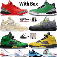 2020 nuovo arrivo superiore Jumpman 4 4s Sail Neon Mens Basketball Shoes 3 3s Grateful Tinker 5 5s Michigan formatori Sneakers Sport