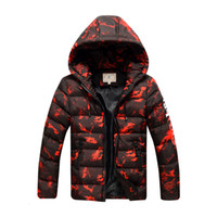 Big Boys Winter Coats Children Down Jackets Camouflage Print...