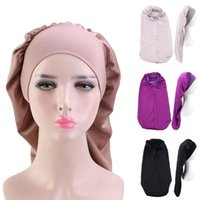 Beanie / Kafatası Kapaklar Dört Mevsim Bayanlar Başlık Aksesuarları Müslüman Nightcap İslam Türban Şapka Arap Uzun Tuail Casual Saç Kapağı