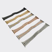 Sólido Oyster de acero inoxidable para la muñeca para banda de reloj de Apple 38 de 40 mm de reemplazo de bucle pulsera de iWatch Serie 5 4 3 2 Accesorios 1strap