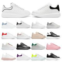 Sneakers con plateau da uomo Pelle bianca riflettente Scarpe casual in pelle scamosciata nera da donna Rosa viola Beige Bule moda comoda taglia piatta 36-45