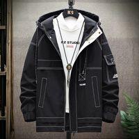 Chaquetas para hombres HCXY Brand Mens con capucha Chaqueta Spring Y Otoño Moda para Hombres Costuras Color Casual Abrigo Masculino