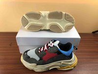 الجملة الموضة في باريس 17FW الثلاثي S حذاء رياضة الثلاثي S عادية أحذية مصمم أبي رجل للمدربين المرأة بيج أسود الرياضة رخيصة للبيع