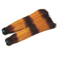 클리어런스 슈퍼 이중 그려진 브라질 버진 인간의 머리카락 번들 스트레이트 컬러 # 3 / 30 베스트 학년 레미 헤어 16inches 2pcs 200g