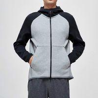2020 nouvelles décolleté arc-en-tissu denim Haut hommes hoodie jogger classique lavé surdimensionné respirant Cagoule de plongée Cousu overshirt
