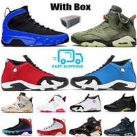 Avec Box 2020 SE 14s Gym Red Black Thunder Basketball Chaussures de Dream It Do Sports UNC Bred Sneakers 6s Travis Scotts