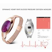 Z18 Frauen Armbänder Smart Armband Band Blut Sauerstoff Herzfrequenz Anruf Reminder Luxus Mode Weibliche Fitness Tracker Armband Armbanduhr