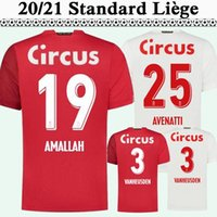 20 21 Estándar Liège Mens Soccer Jerseys New Amallah Bastien Gavory Home Alew Football Shirt Vanheusden Mpoku Cimirot Manga corta Uniformes