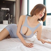 Düz Mikro Mini Elbise Şeffaf Kulübü Fantezi Erotik Wear 17 Yoluyla Seksi Kadınlar Hollow Sıkı Kalem Sevimli Elbise Backless bakın