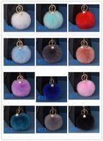 Многоцветного Розового Кролик Fur Ball брелок сумка плюшевого ключ автомобиля Держатель Подвеска Кольцо для ключей цепи для женщин Нового ювелирных изделий Оптовой DHB1258