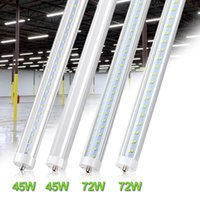8 ft LED Tubes Single Pin FA8 LED Bulb 8feet 8ft LED Tube Lamp Replace Fluorescent Tube Light V Shaped Tube 5500K 6000K