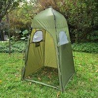 가족 야외 캠핑 액세서리 휴대용 야외 캠핑 샤워 텐트 210T 폴리 에스테르 변경 룸 개인 정보 보호 텐트