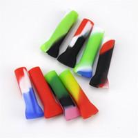 파이프 흡연 실리콘 블런트 홀더 무티 색상은 호스 물 담뱃대 팁 Shishas 휴대용 연기 노즐 스트레이트 0 6xm C2를 입력