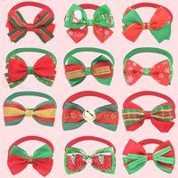 Natal Pet coleiras coleiras Decorações de Natal Gatos bowknot Coleiras Xmas Pet Shop 30 Estilo pode escolher XD23892