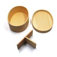 Japon Bento Kutular Ahşap yemek kutusu El yapımı Doğal Ahşap Suşi Kutusu bulaşığı Bowl Gıda Konteyner 2 Renkler özelleştirilebilir BH3099 DBC