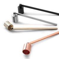 Edelstahl Kerzenflamme Löscher Wick Trimmer-Tool Multi Color Put Out Feuer auf Glocke leicht zu bedienen FWF893