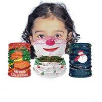 米国在庫キッズクリスマスサンタクロースエルクデザイナーマスク子供バンダナスマジックヘッドスカーフクリスマスパーティーフェイスマスクマジックヘッドバンドバンダナ