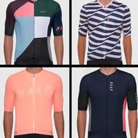 Conjuntos de carreras Maapful Streaks Ciclismo Jersey Juego de color puro Manga corta Uniforme Uniforme Ropa de bicicleta Ropa Ciclismo Traje Ropa Ropa Traje