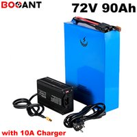 72V 90Ah 5000W 8000W elektrische Fahrradbatterie für Samsung 18650 Zelle 20S ebike Lithium in 150A BMS + 10A Ladegerät gebaut