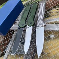 "De calidad superior Benchmade 940/781 cuchillo plegable de 3.4"" S30V raso Plano Hoja púrpura anodizado espaciador de titanio aluminio Asas Navajas"