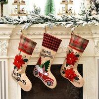 جميل سانتا كلوز عيد الميلاد الجوارب كارتون لطيف جوارب كاندي حقيبة هدية عيد الميلاد شجرة حزب الحلي زينة عيد الميلاد RRA3459