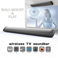 BS41Soundbar Bluetooth Altoparlante Home Theater Sound Bar per la TV wireless e non due altoparlanti di sostegno FM TF
