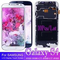 10 sztuk / partia TFT I9500 LCD dla Samsung Galaxy S4 GT-I9500 I9505 Wyświetlacz LCD Ekran dotykowy z zespołem digitizer z ramą