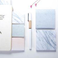 Marmor Farbe Notizblöcke Hinweise Self Adhesive Notizblock Haftnotizen Schule Büro nach Hause Notizblöcke LX2947
